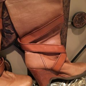 Miss Sixty Leather boots/ size 41
